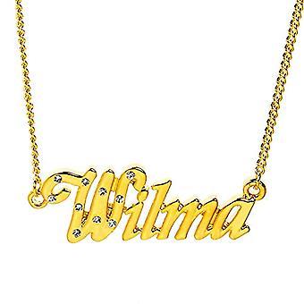 """L Wilma - 18 karaatti kullattu kaulakoru, säädettävä ketju 16""""- 19"""", Regal Packaging"""
