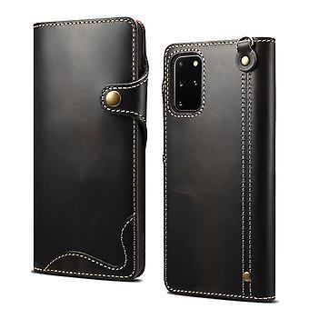 Genuine leather wallet case card slot for samsung s10 5g black no3579