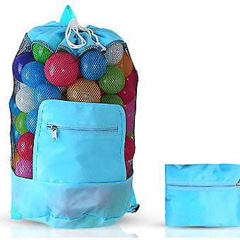 Doodle Toy Play Mat Drawstring Organizer Foldable Large Kids Bag, Blue