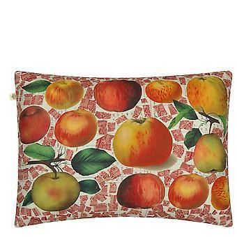 Apples Cushion In Carmine Red By John Derian