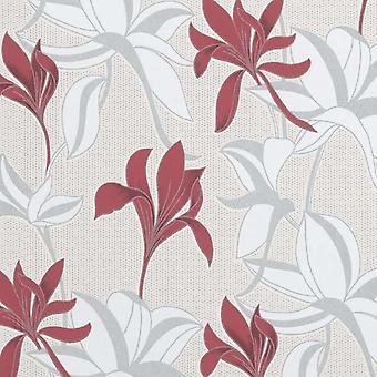Erismann Flower Red Wallpaper