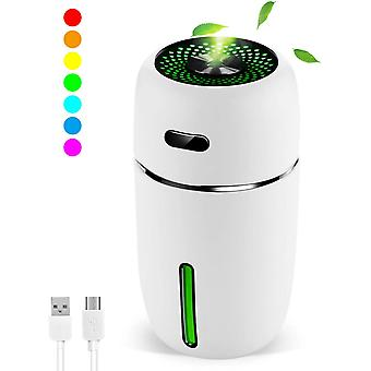Portable Mini Usb Humidifier, 200ml Ultrasonic Cool Mist Humidifier With 7 Colors Light Changing