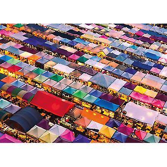 Gibsons Thai Market White Logo Jigsaw Puzzle (1000 Pieces)
