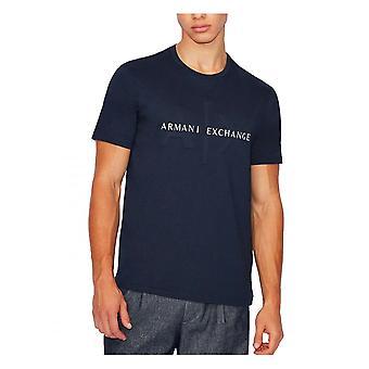 Armani Exchange A x Logo T-shirt Navy