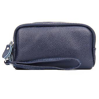 Dames Dames à trois couches Long Wallet Multifunctional Lychee Pattern Leather Wallet