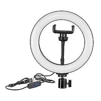 Ringlicht 8 Zoll LED Füllen Licht USB powered Stepless Dimming mit Kugelkopf Telefon Klemme