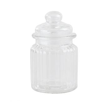 300ml Transparent Glass Jars Storage Tea Coffee Spice Candy Container