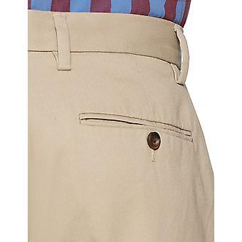 Essentials Classic-Fit a las arrugas de los hombres resistente a las arrugas de frente plano chino pantalón, caqui, 32W x 31L