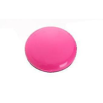 Scatola portaopillole rotonda portatile 7 giorni semplice scatola di stoccaggio delle pillole per la casa (rosa rosa)
