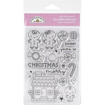 Doodlebug Clear Doodle Stamps - Visions Of Sugarplums