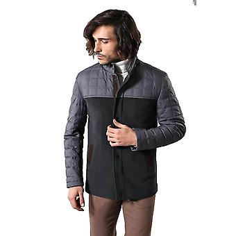 Smoked cache quilted coat