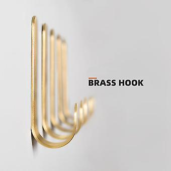 8PCS Self Adhesive Drill Free Brass Hanger Hook