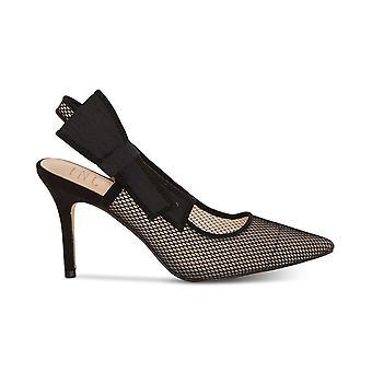 INC Internationella koncept Womens Colettaf Fabric Spetsiga tå Casual Slingback Sandaler