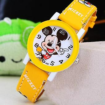 Children Pu Leather Quartz Wristwatch