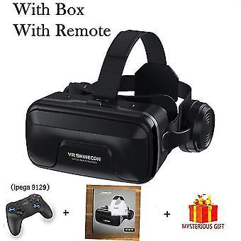 Vr shinecon 10.0 kask Okulary 3d wirtualna rzeczywistość casque do smartfona inteligentny telefon gogle zestaw słuchawkowy