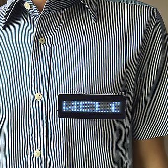 Led Programmable Scrolling Name Message Badge Tag Digital Display English