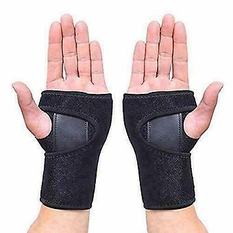2pcs Strap Carpel Tunnel Rsi Cts Ca Left And Right Wrist Support Pain Relief Splint Brace Protection