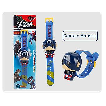 Disney Marvel Sarjakuva Lapset Digitaalinen Katsella 3d Projektio Supersankarit Spiderman Ironman katsoo Lasten watchband lelu lahjat
