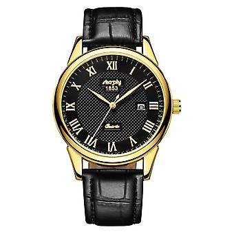 Men's Watch With Roman Numerals Design
