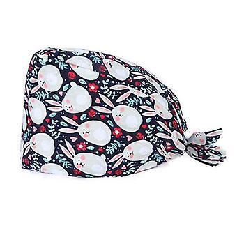 Unisex Women Scrub Hat nyomtatott sapka orvos nővér hajápolás fejfedő