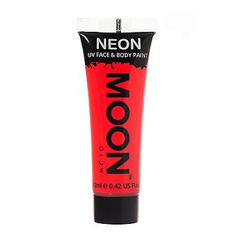 Moon Glow - 12ml Neon UV Gesicht & Body Paint - intensives Rot