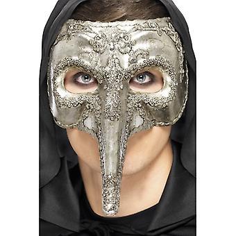 Capitano venetianska eye mask silver deluxe Halloween Venezia