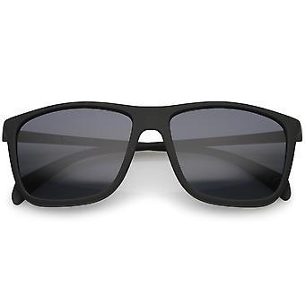 Styl życia gumę matowym wykończeniu świątyni Slim Flat Top Square okulary 56mm