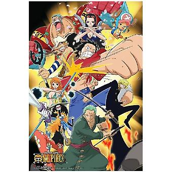One Piece - attaque Punch - Anime affiche Poster Print