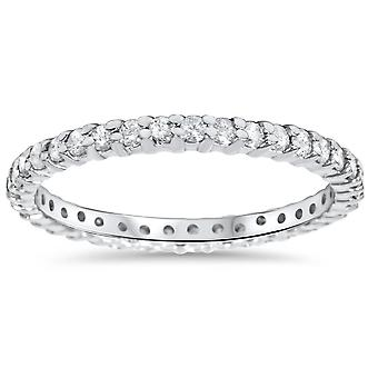 5/8ct Diamond Eternity Wedding Ring 14K White Gold