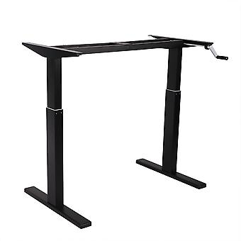 Flexispot 48 pouces Crank Height Adjustable Office Workstation Frame Only Standing Desk Leg (Noir)