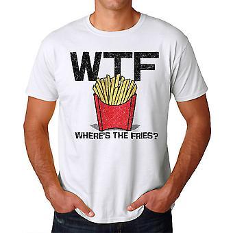 Pommes frites Männer weißes T-shirt Humor