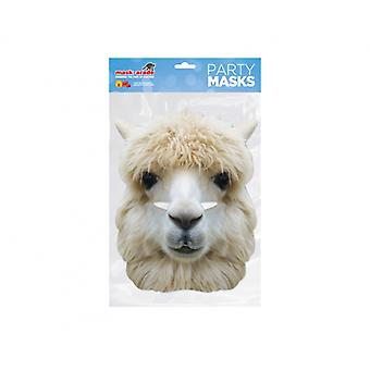 Alpaca Animal 2D Card Party Fancy Dress Mask