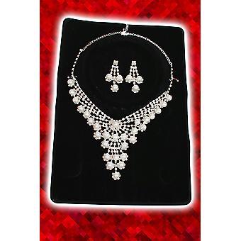 Schmuck und krönt Set Halskette und Ohrringe Perlen