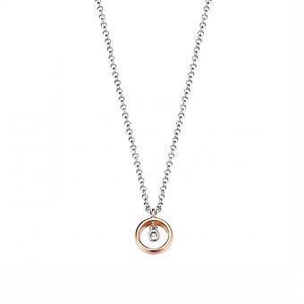 ESPRIT women's chain necklace silver Rosé cubic zirconia purity ESNL93191B420