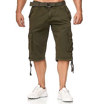 Men's Cargo Shorts With Belt Outdoor Trekking Bermuda Pants Trousers Vintage