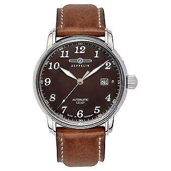 Zeppelin | Series LZ127 | Automatic Date | Brown Leather Strap | 8656-3 Watch