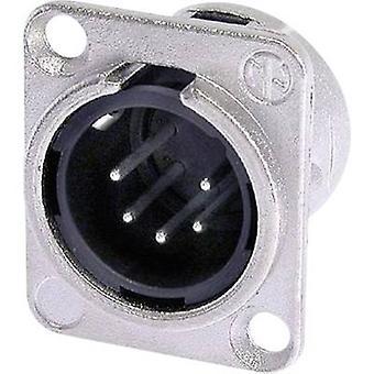 Neutrik NC5MDL1 XLR connector Sleeve plug, straight pins Number of pins: 5 Silver 1 pc(s)
