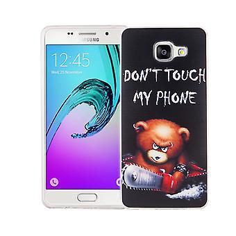 Mobile Etui Samsung Galaxy A5 2016 la couverture de l'affaire sac de protection motif slim silicone TPU lettrage ours avec tronçonneuse