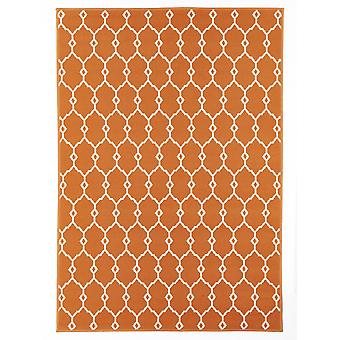 Outdoor carpet for Terrace / balcony vitaminic trellis Orange 133 / 190 cm carpet indoor / outdoor - for indoors and outdoors