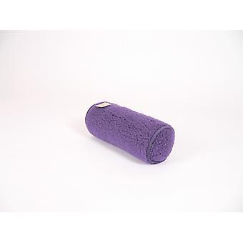 Nek roll kussen paarse wol 42 x 14 cm