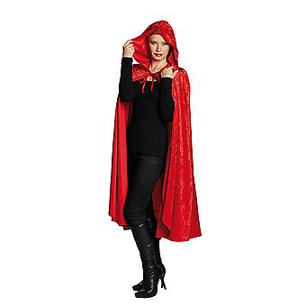 Samtcape rot Samtumhang Edelcape Kapuzenumhang Kostüm für Damen