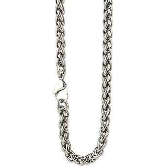 Ti2 Titanium Chunky Wheat Chain - Silver