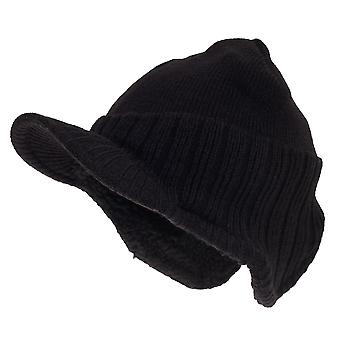 RockJock Mens German Style Peak Beanie Hat