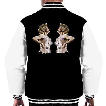 Madonna gespiegeld Cone beha korset Blonde ambitie Tour 1990 mannen Varsity Jacket