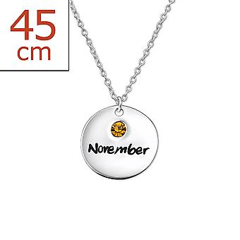 Novemberbirthstone - 925 Sterling Silver Jewelled Necklaces - W30223x