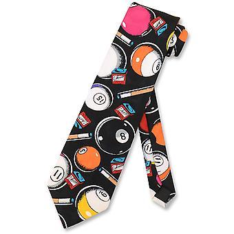 Biljart ballen stropdas Cue stokken zwembad thema ontwerp Mens nek Tie