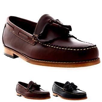 Mens G.H Bass Weejuns Layton Pull Up Kiltie Smart Leather Loafers Shoes