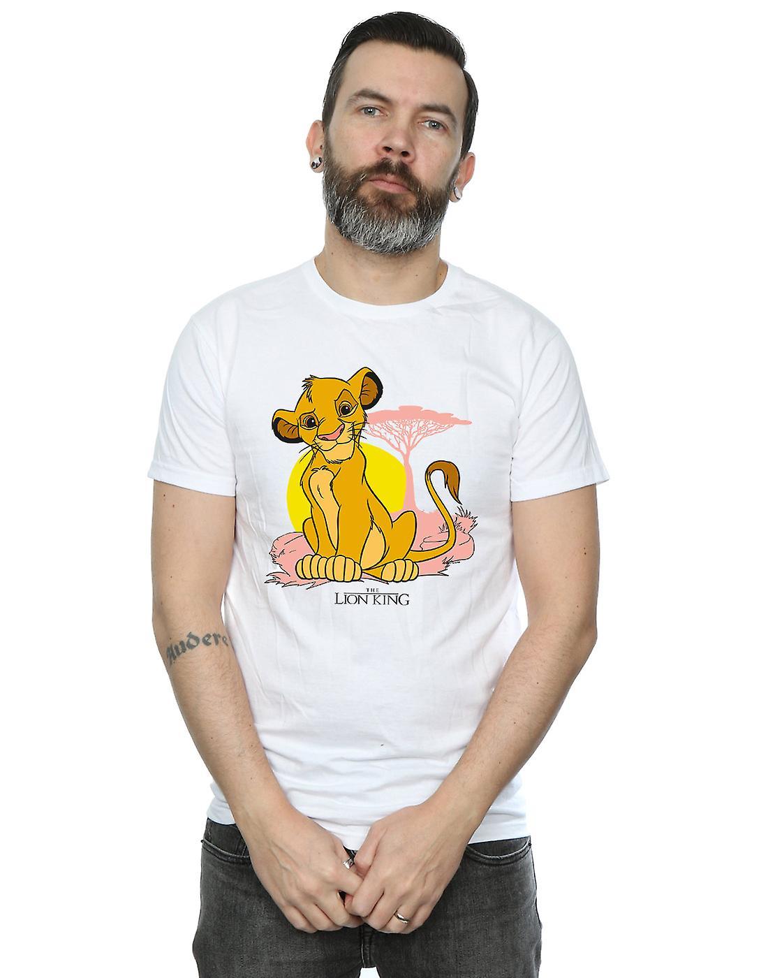 Disney Men's The Lion King Simba Pastel T-Shirt