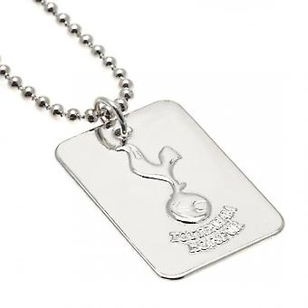 Tottenham Hotspur FC Silver Plated Dog Tag And Chain