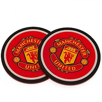 Manchester United FC Coaster Set (Pack Of 2)